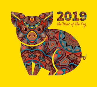 Chinese New Year 2019 Year Of The Brown Pig